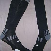 Free Shipping 3 Pair Mens Large Lg Oakley Wool Black & Gray High Ski Socks 3pr Photo