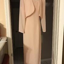 Free Shipping  After Dark Blush Full Length Evening Dress & Jacket - Size 10 Photo