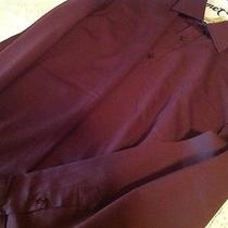 Free Shipping Burton Classic Fit Men's Nice Long Sleeve Maroon Dress Shirt Photo