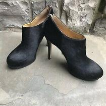 Free Shipping Nine West Faux Fur Platform Bootie Black Size 8.5 M Photo