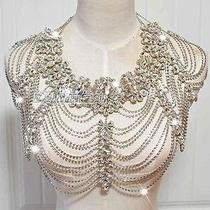 Free Shipping Shining Rhinestones Shoulder Chain Necklace Wedding Bride Jewelry Photo