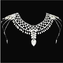 Free Shipping Shining Rhinestones Shoulder Chain Necklace Wedding Bride Jewelry3 Photo