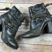 Freebird Boots Hero Ankle Boot Brown Side Zip Womens Size 6 Bootie Leather Photo