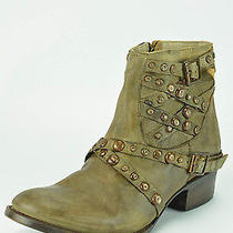 Freebird by Steven Halo Womens Size 9 Gray Leather Fashion Ankle Boots Photo