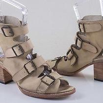 Freebird by Steven Quail Taupe Women's Open Toe Leather Sandal Bootie Size Us 11 Photo