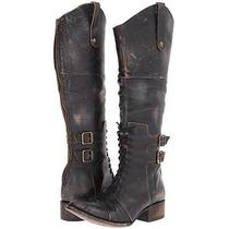 Freebird by Steven Saddle Leather Boots Riding Boho Lace Up Western Rugged Photo
