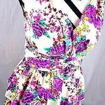 Freeway Dress Size Medium Purple Floral Fringe Boho Anthropologie Womens M Photo