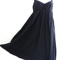 French Connection Baby Doll Style Dress Size M Black Summer Dress Empire Waist Photo