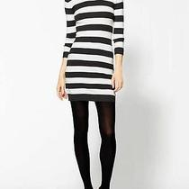 French Connection Bambi Knits Mini Sweater Dress Charcoal White Stripes 4us Photo