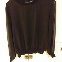 French Connection Black Pullover Blouse Size 10 Photo