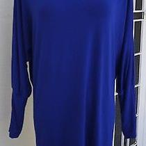 French Connection Blue Boatneck Dress Sz 10 in Vgc Photo