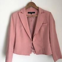 French Connection Blush Pink Jacket Blazer Shoulder Pads Size 8 Photo