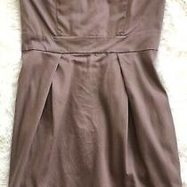 French Connection Brown Back-Zip Modal Blend Strapless Dress W/pockets - Sz 4 Photo