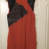 French Connection Burnt Orange/ Ochra Tunic Dress Uk Size 16 Photo