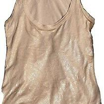 French Connection Christmas Gold Metallic Vest  Size Xs  Boho Ethnic Look Photo