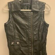 French Connection Faux Leather Vest Womens Small Us 6 Photo