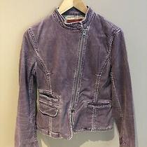 French Connection Fcuk Jeans Purple Corduroy Ladies Jacket Size 12 Photo