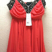 French Connection Frenchie Pink Coral Baby Doll Dress Uk8 New With Tags Photo
