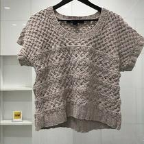 French Connection Knitted Short Sleeve Sweater Medium Helps Essential Workers Photo