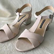 French Connection Lara Womens Blush Leather Sandals Shoes Size 10 M Retail 165 Photo