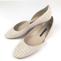French Connection Leather Asia Blush Croc Flats 39.5 Photo