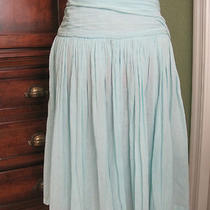 French Connection Light Aqua Cotton Skirt Size 2 Photo
