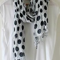 French Connection Navy Polka Dot Summer Scarf Photo