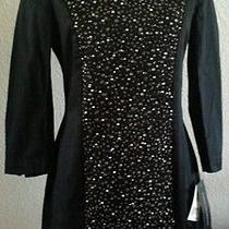 French Connection New Black Beads/rhinestone Dress Sz 6 S Small Nwt 298 Photo