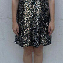 French Connection Sequin Dress Multicoloured Size 10 Photo