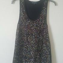 French Connection Sequinned Racer Back Vest Top Size M Photo