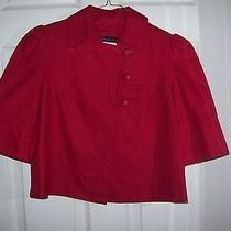French Connection Short Red Jacket Size 4 Photo