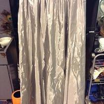 French Connection Silver Fluted Maxi Skirt Size 10 u.s.a 1-88 Photo