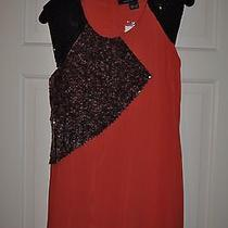 French Connection Size 2 Regular Hot Fizz Dress Orange Tuscan Summer Hand Beaded Photo