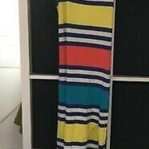 French Connection Size 8 Blue Stripe Stretch Dress (D3) Photo