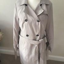 French Connection Size L New Raincoat With Tie Belt and Side Slits Photo