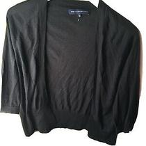 French Connection Size Medium Black Open Front 3/4 Sleeve Cardigan (M5) Photo