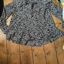 French Connection Size S Small Cold Shoulder Pussybow Floral Top.  (E17) Photo