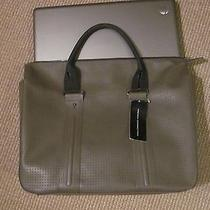 French Connection Tote Computer Bag Charcoal Taupe Black Nwt Photo
