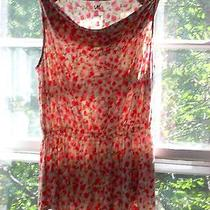 French Connection Uk Style Sleeveless Blouse Top Sz L Coral Blush Tuscan Photo