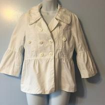 French Connection White Bell Sleeve Double Breasted Blazer Size 8 Photo