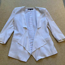 French Connection White Waterfall Blazer Size 8 Photo