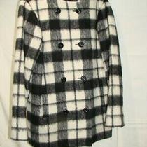 French Connection Woman Winter Black & White Coat Size 6 Excellent Condition Photo