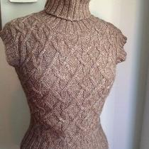 French Connection Womens Turtleneck Sleeveless Sweater Alpaca Brown Size Small Photo