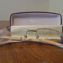 French Wood White Gold Plated Cartier Glasses. Photo