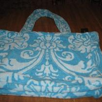 Fresco Towels Large Terry Tote Royal Damask Aqua Marine  Photo