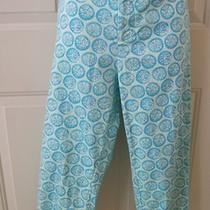 Fresh Produce Lemon Grass Capri Pants Light Green and Aqua Size 8 Nwt Photo