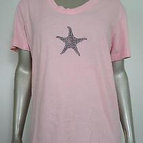Fresh Produce Women's Blush Starfish Knit Tee Shirt S Photo