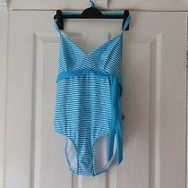 Freya 32 E Blue & White Stripe Swimming Costume. New With Label. Photo