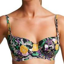 Freya Adelphi Balcony Bikini Top 3450 Underwired Swimwear Black Print Photo