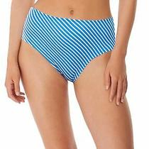 Freya Beach Hut As6795 High Waist/leg Bikini Brief Blue Moon Bmn M Cs Photo